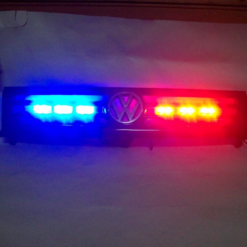ФОТО FREE SHIPPING Super Bright 2x 6 LED Car Strobe Light High Power WHITE