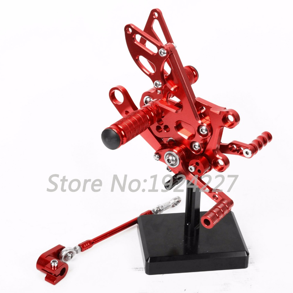Motorcycle Footrest Adjustable Foot Pegs Rear Set For Aprilia RSV4 2009-2012 Hot High-quality Motorcycle Foot Pegs Red