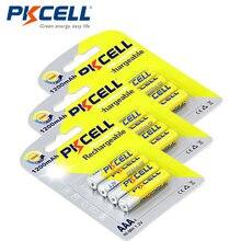 12 шт/3 карты pkcell в aaa перезаряжаемая батарея 1200 мАч nimh