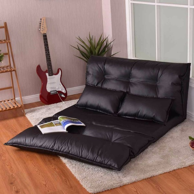 Brilliant Giantex Foldable Pu Leather Leisure Floor Sofa Bed With 2 Pillows Modern Living Room Portable Lounge Folding Sofa Bed Hw56459 In Living Room Sofas Gmtry Best Dining Table And Chair Ideas Images Gmtryco