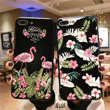 Flower plant Phone Case For iPhone 7 case Flamingo leaf Shell Soft TPU Silicone Back Cover For iPhone XS Max XR X 8 7 6 6S Plus цена и фото