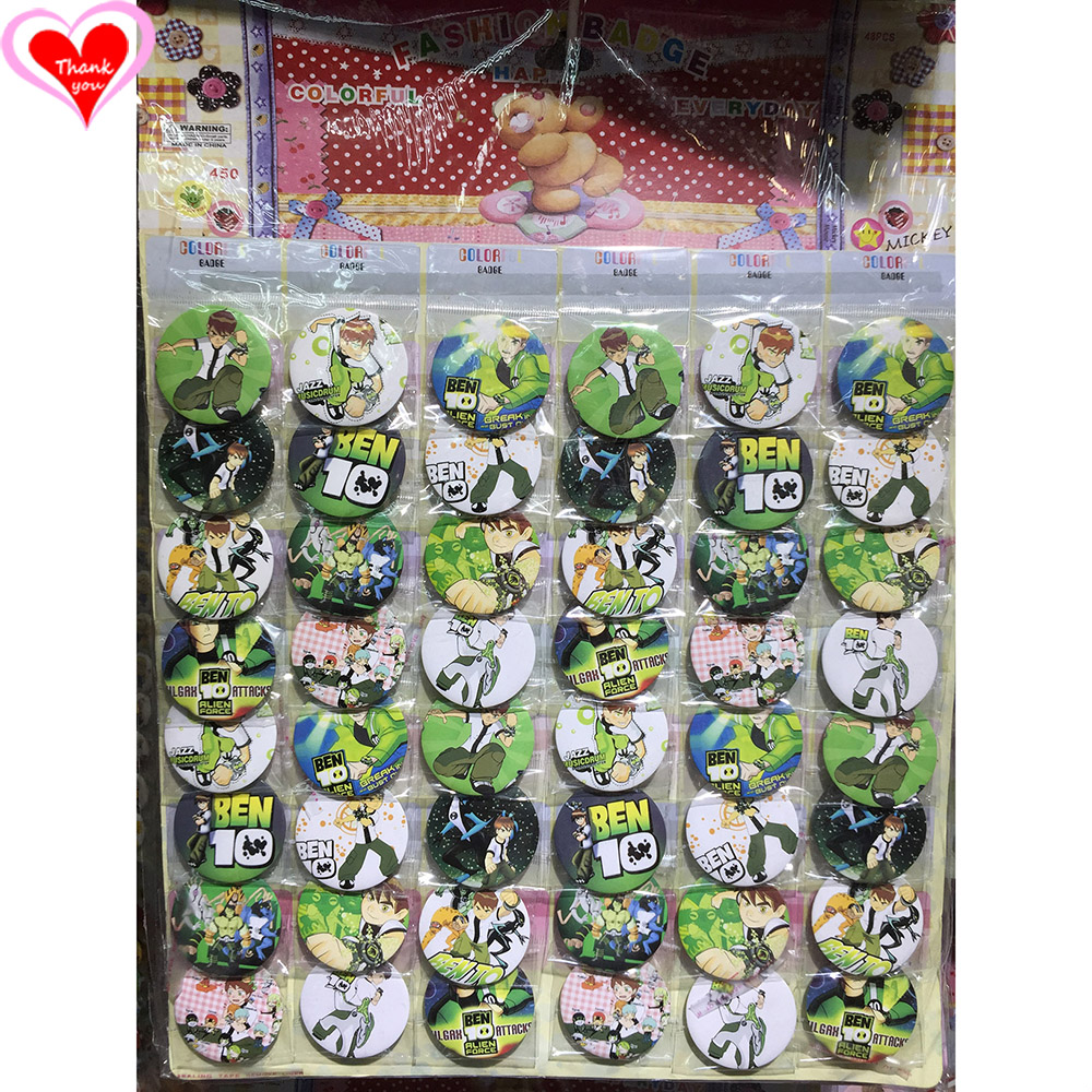 Love Thank You Ben10 Ben 10 45MM 16/24/32/40/48 pcs lot PIN BACK BADGE BUTTON BROOCH for BAG GIFT TOY CLOTH Cartoon& anime