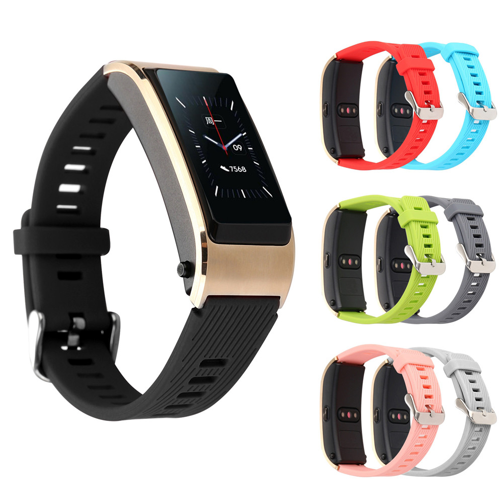 TPU Wrist Band Bracelet Strap For Huawei TalkBand B5 Sports Smart Watch 7 Colors Replacement Watchband Straps For Huawei Watch