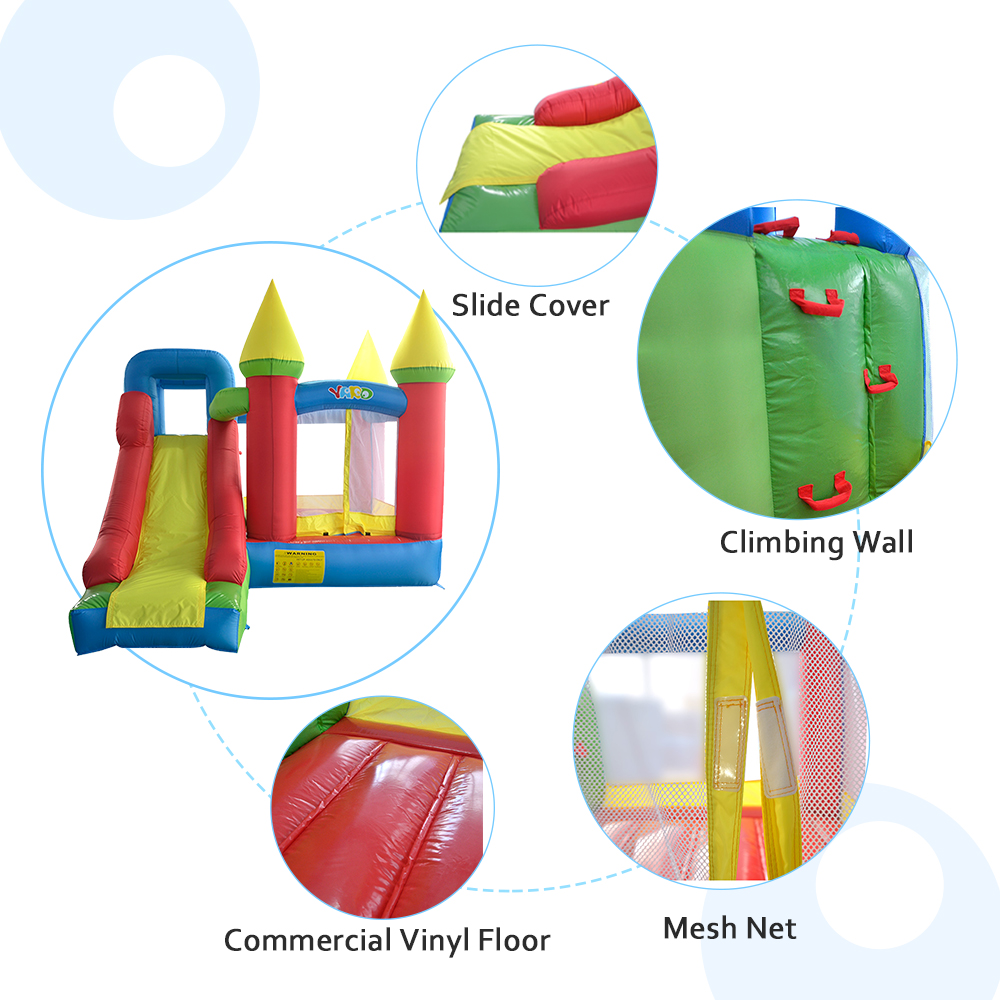 YARD Bounce House with Slide Kids Indoor Inflatable Jump Castle with Blower Outdoor Playhouse Children Toy Trampoline Bouncer in Inflatable Bouncers from Toys Hobbies