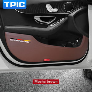 Image 3 - TPIC Car Door Anti kick Pad Stickers Ultra thin Leather PVC Door Protection Side Edge Film For Mercedes w204 w205 w213 C E Class