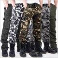 2015 Nuevo Llega la Marca Para Hombre Pantalones de Carga Militar Para Los Hombres Más Bolsillos Con Cremallera Pantalones Pantalones Overoles Más El Tamaño Del Ejército Al Aire Libre