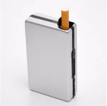 New 1pcs Automatic aluminium cigarette Case Portable Hold 10pcs Regular Cigarettes Gift Smoking Accessories 6colors to choose