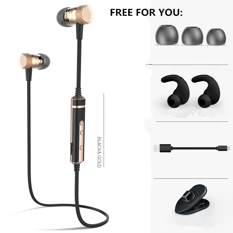 H6 Brand Bluetooth Earphone Wireless Neckband Sport Running Headset Sweatproof With Mic for iphone xiaomi samsung MP3/4 original remax neckband sport earphone s8 wireless bluetooth headset bluetooth 4 0 magnet earphone for iphone x 8 samsung xiaomi
