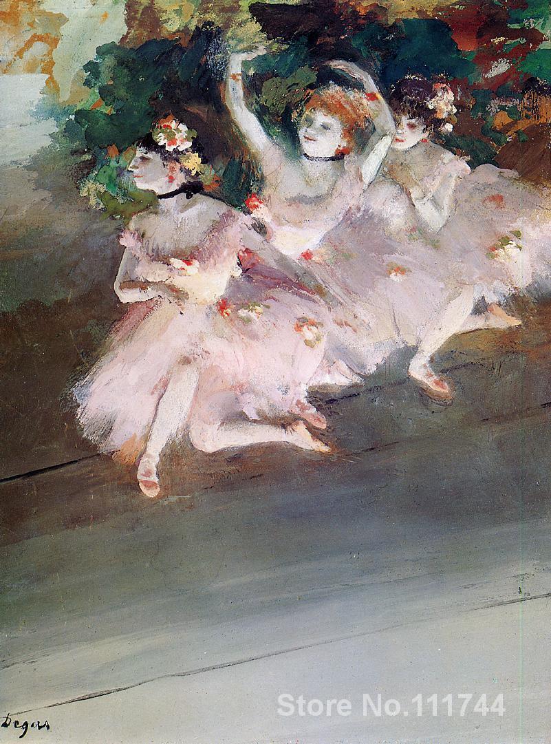 Art gift Three Ballet Dancers Edgar Degas Oil paintings on canvas Handmade High QualityArt gift Three Ballet Dancers Edgar Degas Oil paintings on canvas Handmade High Quality