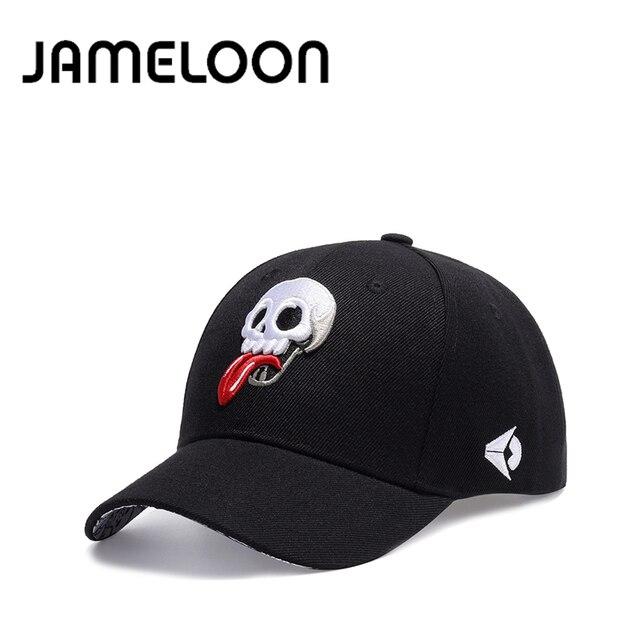 2c7a1d76b7d  JAMELOON  fashion Skull Embroidery black baseball cap army snapback Hat  for men Cap women