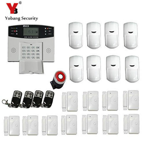 YobangSecurity Metal Remote Control Russian Spanish Italian Voice Home GSM Wireless Security Alarm System 433MHz PIR/Door Sensor forecum 433mhz wireless magnetic door window sensor alarm detector for rolling door and roller shutter home burglar alarm system