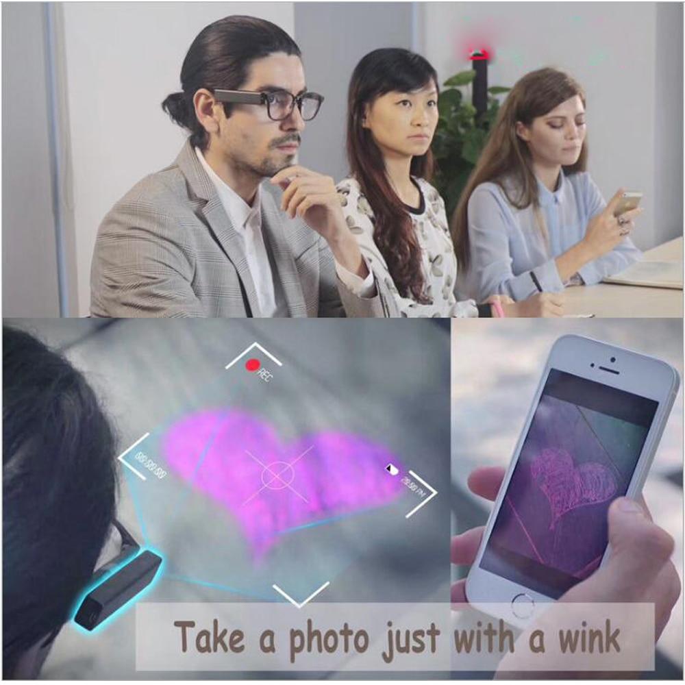 Mini Camera Vergadering Recorder Blink Foto met Knipoog Tachograaf Draagbare Glas Camera Capture met Ogen Draadloze WIFI