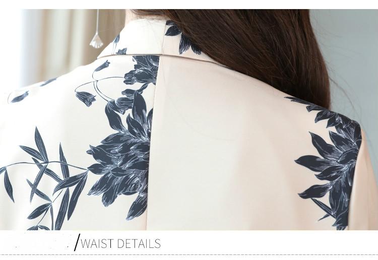 YASUGUOJI New 2019 Spring Fashion Floral Print Pants Suits Elegant Woman Wide-leg Trouser Suits Set 2 Pieces Pantsuit Women 40