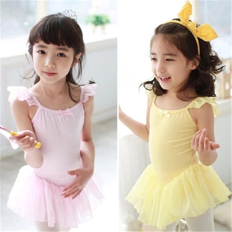 Girls Ballet Dress Dance Clothing Kids Ballet Dresses Leotard Dancewear For Children Girl Pink Ballet Tutu Gymnastics Dancewear