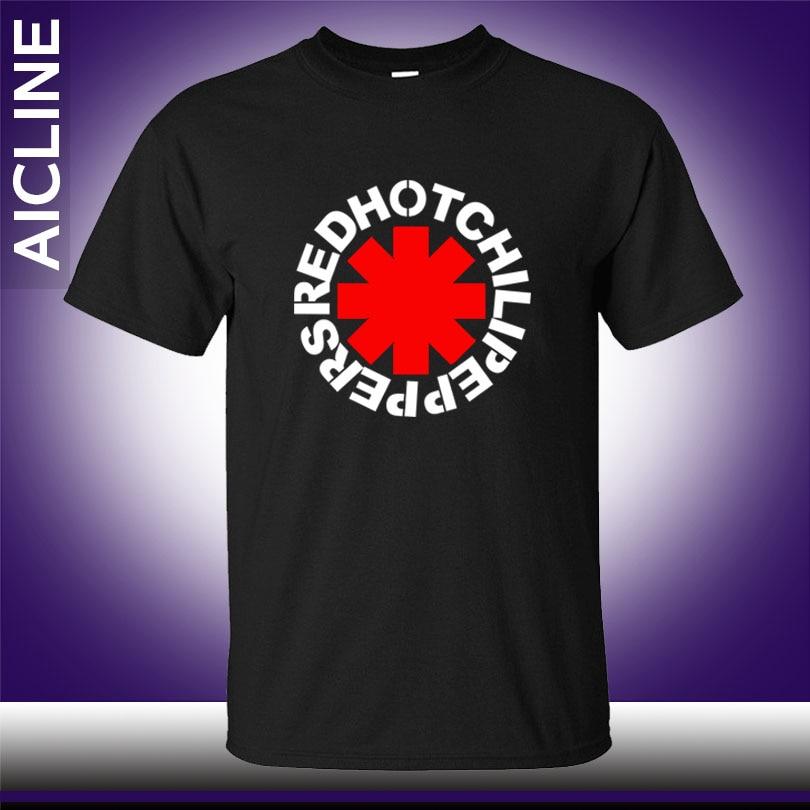 Hot nk Punk Rap Alternative Rock And Roll Red Hot Chili Peppers   T     shirt   Men Cotton Printing Black Rock Music HIp Hop   T  -  Shirt   Tee