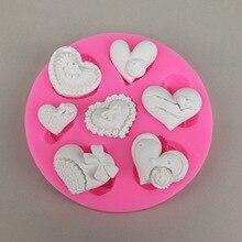 Различные маленькое сердце Форма силиконовые формы для помады украшения торта мыло для рук, делая формы DIY мыло силиконовые формы