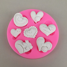 Various Small heart Shape Silicone mould for fondant cake decoration hand soap making DIY silicone mold