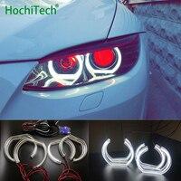 For BMW 1 Series E82 E88 E87 E81 2008 11 Xenon headlight High Quality DTM Style White Crystal LED angel eyes Day light