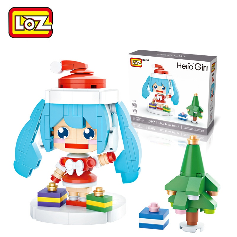 Christmas Hatsune Miku.Us 3 39 15 Off Loz Single Sale New Christmas Miku Diy Cartoon Girls Diamond Bricks Hatsune Miku Building Blocks Toys For Children 1418 Blockes In