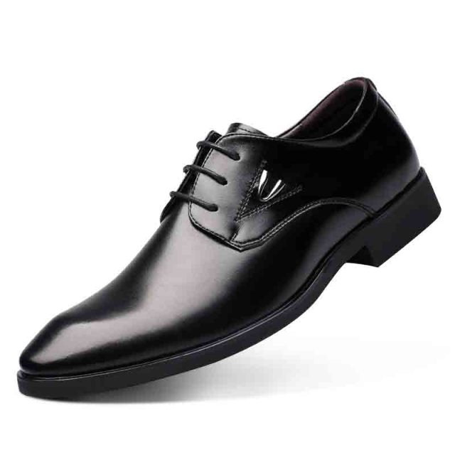New arrival Fashion men genuine leather business style Shoes flat with round toe Comfortable  breathable casual men single shoes