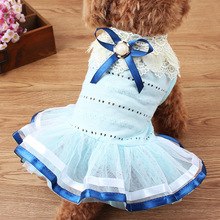 High Quality Lace Embroidered Dog Dress Cute Princess Wedding Dresses For Dogs Pet Tutu Skirt Supplies XS S M L XL xinyi xs s m l xl