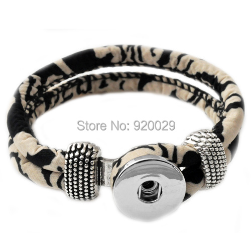 P00021 Newest mix color button clasp cord armband button armband fit 18mm button