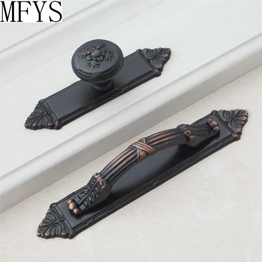 Drawer Knobs Pulls Handles Back Plate Black Copper Kitchen ...