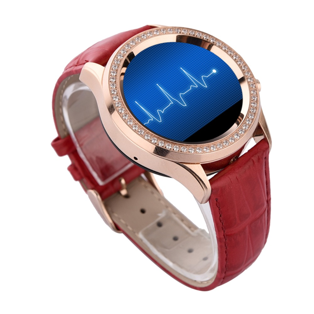 No.1 D2 MTK2502 Women diamond Waterproof Smart Watch for iPhone Samsung  Android ios Wristwatch Bluetooth 4.0 heart Rate monitor-in Smart Watches  from ... ff312f195e