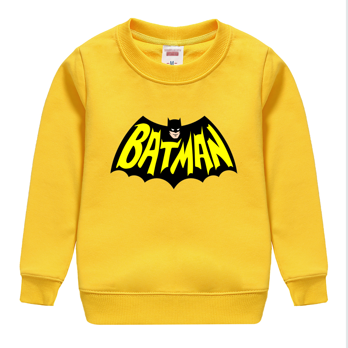 BATMAN pattern autumn long sleeve sweatshirt for girls boys shirts children tops children's sweatshirts baby clothing