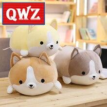 QWZ 30cm Cute Corgi Dog Plush Toy Stuffed Soft Animal Cartoon Pillow Lovely Christmas Gift for Kids Kawaii Birthday Present