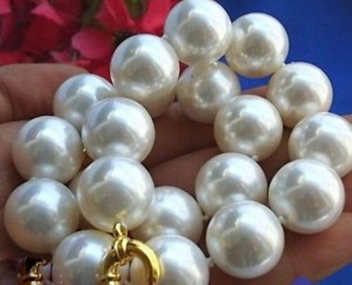 Collier de perles de coquille blanche de mer du sud 18mm AAA