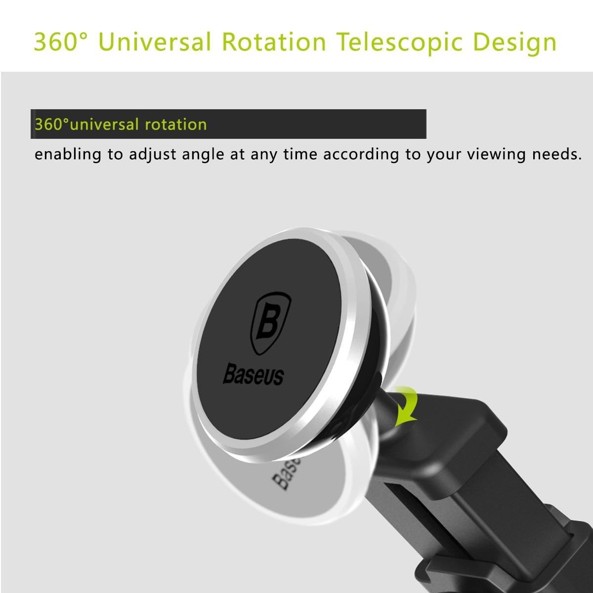 Baseus magnetisk bilhållare för iPhone 11 Pro Xs Max Teleskopisk - Reservdelar och tillbehör för mobiltelefoner - Foto 5