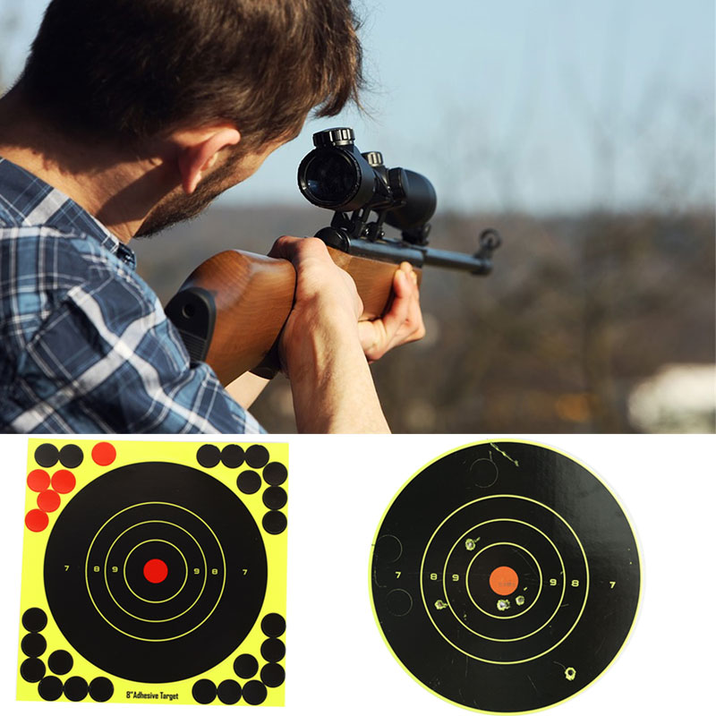 Paper Target Shooting Target Shotgun Outdoor Target Stickers Yellow Paper Economic Archery