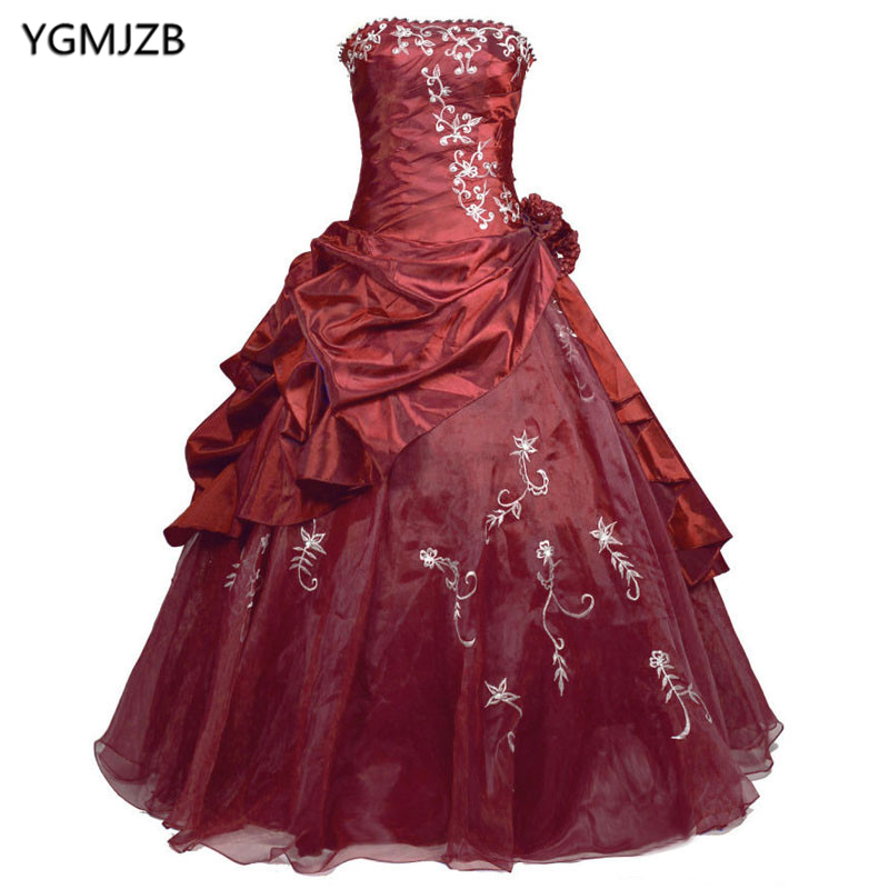 Cheap Burgundy Navy Blue Purple Quinceanera Dresses Beaded Vestidos De 15 Anos Debutante Gown Sweet 16 Դիմակահանդես Գնդակ