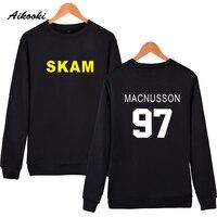 Aikooki Fashion Skam Capless Sweatshirt Men Women Cotton High Quality Winter Warm Sweatshirt Hoodies Male Streetwear