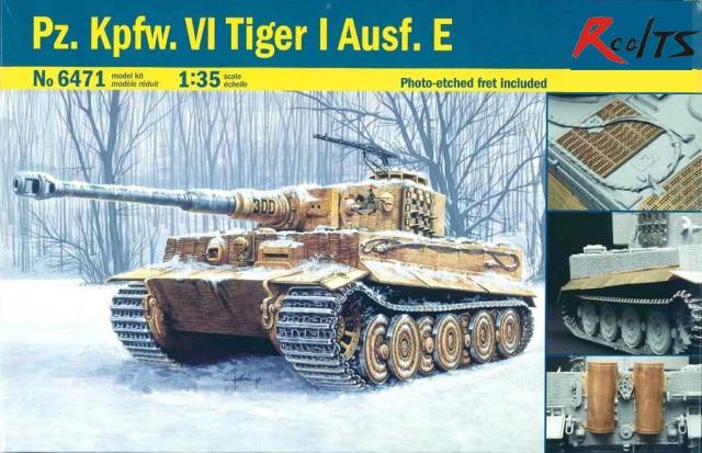 RealTS Italeri [ITA] 1:35 Pz.Kpfw.VI Tiger I Ausf.E Plastic Model Kit ITA6471 цена
