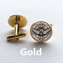 Fashion handmade Cufflink Classic Style Angel Wings Picture dome glass Steampunk Art Picture High Quality Cufflink jewelry