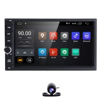 7 2Din Universal Android 8.1 Quad Core 1024*600 Car PC Tablet GPS Navigation Radio Video Audio Player Wifi Car Headunit(No DVD)