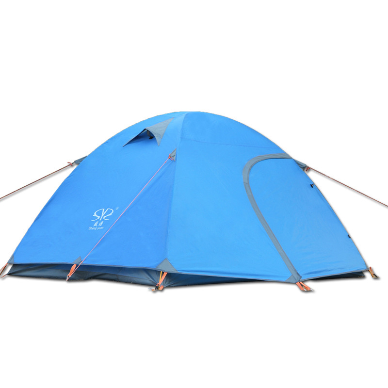 210*180*135cm 3-4 Person Camping Tents Waterproof Hiking Fishing Tents Windproof Outdoor Double Layer Camping Tent flytop high quality 3 person double layer rainproof windproof outdoor camping tent with snow skirt 210 50 180 50 115 cm