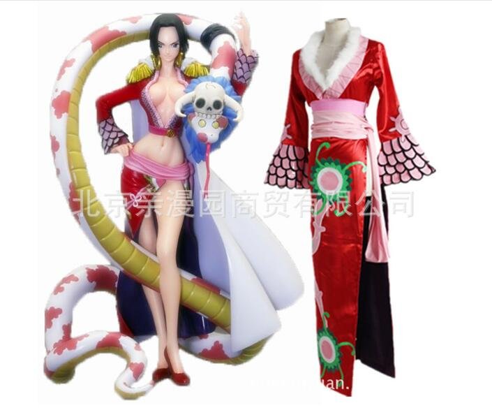 Free Shipping One Piece Adult Women Cosplay Costume One Piece Boa Hancock Cosplay Costume for Halloween