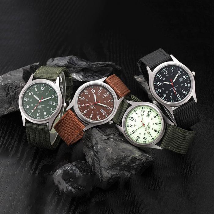 HTB1YJZIaAKWBuNjy1zjq6AOypXa7 Fashion Men Military Watch Quartz Analog Clock Canvas Wristband Sports Army Waterproof Wristwatch ~ @88 LXH