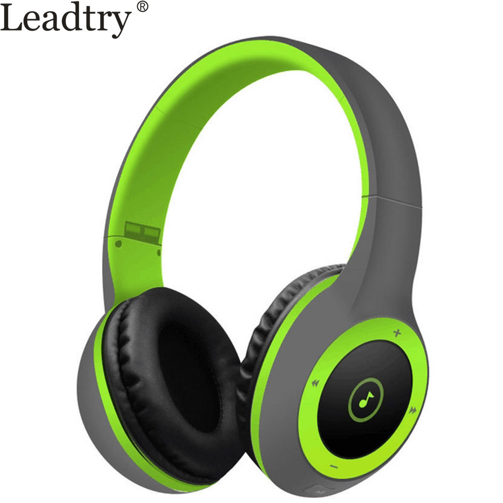 LeadTry HIFI Bluetooth Speakers Wireless Bluetooth Headset Heavy Bass Sound Stereo Noise Cancelling Handsfree Headphone with Mic