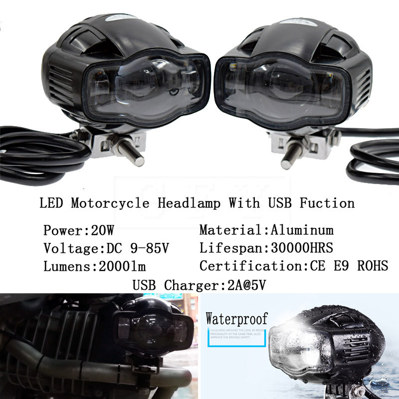 22-40mm CE Universal Motorcycle ATV Car headlight lamp LED Super Bright Fog light USB Charger For BMW Ducati Suzuki Honda Harley двусторонняя доска для рисования shantou gepai literacy tablet