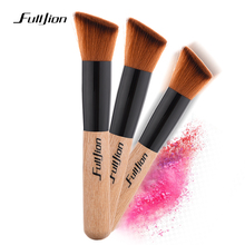 Fulljion 1pcs High Quality Powder brush Wooden Handle Multi Function Makeup Brushes Foundation Women Make up
