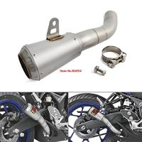 H2CNC Motorcycle Parts Stainless Steel Slip On Exhaust For Yamaha YZF R3 YZF R25 MT 03 MT03 2015 2016 2017 2018 YZF R3 R25