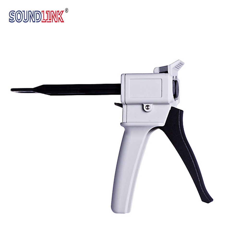 Universal Fitting 1:1 Ear Impression Dispenser Injection Mixing Gun Manual Syringe Caulking Gun Applicator Dental Equipment ear impression taking kit impression silicone material otoscope syringe ear light tweezers
