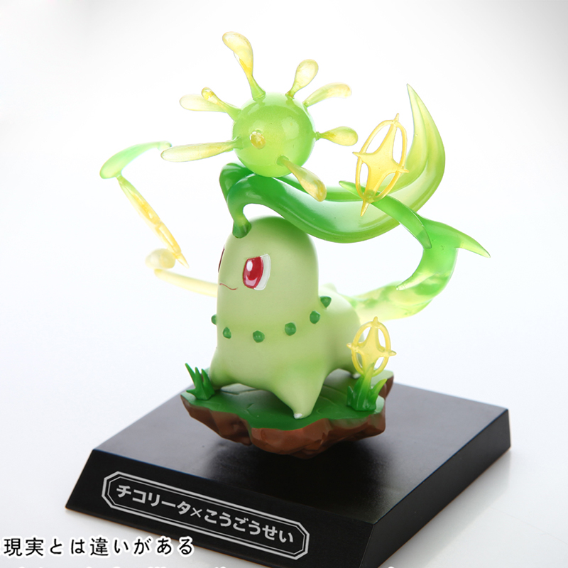 6cm Anime Pet pokebolas Pokeball Pikachu Chikorita PU Resin Model Statue Action Figure Toy Collection Brinquedos Figurals Gift цена