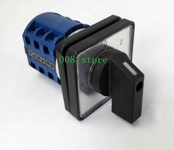 CA10 replacer LW26-20 20A Rotary Cam Switch 1-0-2 ON-OFF-ON 3 Poles 12 terminals K&N replacer ith 20a 8 screw terminals rotary combination cam switch