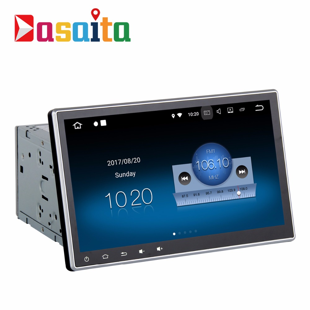 2 Din Autoradio GPS Android 8.1 Panneau Amovible avec 2g + 16g Quad Core Stéréo Auto Multimédia fit pour Nissan Honda Toyota