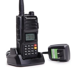 Image 5 - Quansheng TG UV2 PLUS wysoka moc 10W 5 pasm 136 174MHz/policja 350 390MH/400 470MHz 4000mAh 10KM daleki zasięg 200CH Walkie Talkie